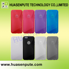 S Line TPU Clear Phone Case For iphone 6, Colorful Phone Case, For iphone 6 Case Colorful