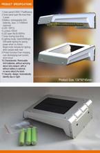 Waterproof Solar LED Garden Light/Wall Light/Balcony LED Light With Motion Sensor