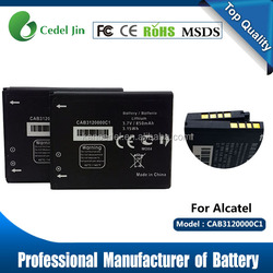 rechargeable high capacity battery CAB3120000C1 battery for alcatel cab compatible