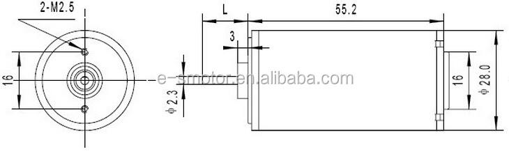 12v 28mm coreless gear motor