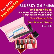 Bluesky de arte de uñas de gel kit/envío gratis