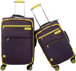 2015 China new product fashion women nylon travel luggage 4 universal wheels trolley luggage