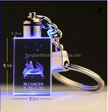 handmade crystal chain, crystal LED key chain, crystal customized key chains