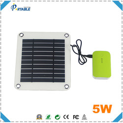 hottest 5V USB 5W semi flexible solar panel with inner voltage controller for charging mobile phones directly