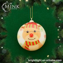 popular styrofoam flat ball christmas decorations with decal