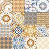 China rustic porcelain floor tile cement tile flower ceramic tile