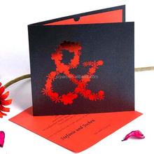Unique Red Symbol Foil-Stamped Europe Wedding Invitation Card