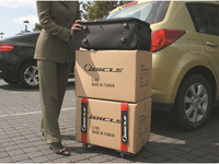 new product folding travel mobile stainless steel trolley