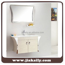 JKL-2132 antique furniture french style stainless steel modern wash basin mirror bathroom cabinets price