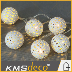 New coming Led decoration string lights silver ball Led lights for party