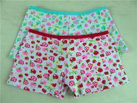 3013-6 children clothes winter 2015 OEM boxers briefs kids underwear india girl cartoon apple cotton kids panties 100 cotton