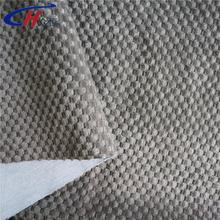 Dark gray brushed ananas shape bonded T/C fabric material for sofa set