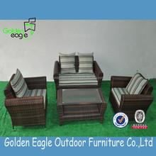 fashionable design outdoor rattan garden sofa