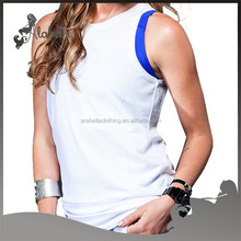 Breathable sports active wear & O- neck sports tank tops printer