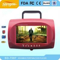 China wholesale mini cheap 7inch dvd player with usb sd radio