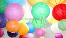 colorful round hanging paper lanterns
