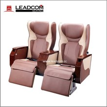 Leadcom luxe en cuir coach siège vip pour vente de