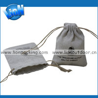 Best selling linen natural pouch with drawstring