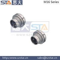 replaced Binder 682 series M16 waterproof connector,M16 connector socket