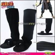 [ideamanga] NARUTO Uchiha Sasuke Cosplay Shoes COS Boots NARUTO Straw Sandals Ninja Fabric Halloween Party gift freeshipping