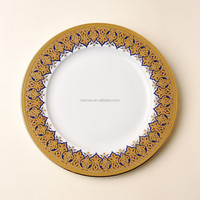 Gold plated porcelain dinnerware