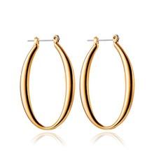 Fashion design 24k gold hoop earrings for men