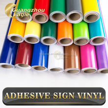 Matt Light Green Color PVC Vinyl Film Advertising Vinyl For Outdoor Sign