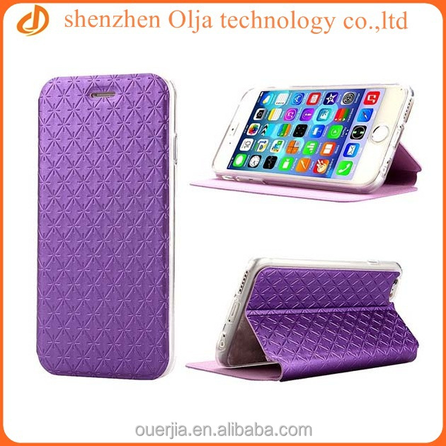Olja high quality Voltage holster case for iphone 6, newest stand pu leather case for iphone 6