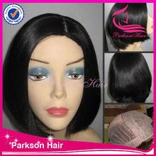 2014 Natural BOB straight baby hair brazilian human hair human hair half head wig