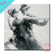 Modern wall hanging dance couple painting
