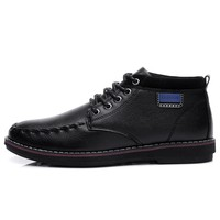 2015 Italian wholesale popular leather causal lace-up men shoes