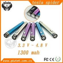 China supplier factory price 1300mah ecig for tesla spider vapor pen