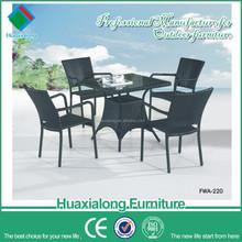 Black 4 seater aluminium frame 2012 New Design Europe Rattan Furniture