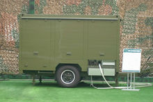 mobile RO unit, portable water treatment equipment with trailer and power generator