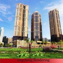 the elevation of 3d building model/3d building model Design /house model design