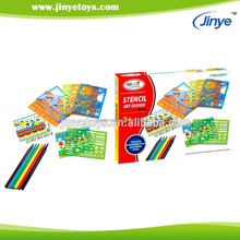 kids educational painting sets with color pen and Multiple templates