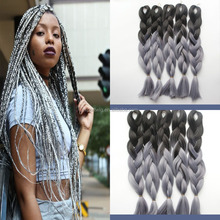 Best price! 2 /3 /4 tone colored jumbo braid,ombre kanekalon braiding synthetic hair wholesale