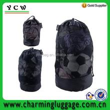 Gym sport polyester nylone mesh drawstring bag