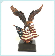 Polyresin American Flag Eagle Table Sculpture