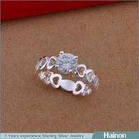 Hainon wholesale price heart design jewelry love and kisses ring