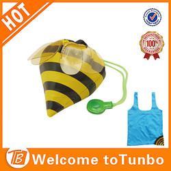 Alibaba china tote bag shop bee shape ripstop polyester eco shopping bag
