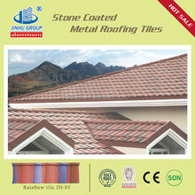 2014 Interlocking / Ceramic Colorful Stone coated steel roofing tile