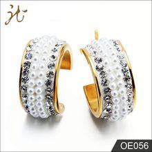 316L Stainless Steel Jewelry Pearl Diamond Earring