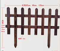 custom solid wood anti-corruption outdoor fence