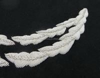 Good quality professional silvery white pattern uniform caps