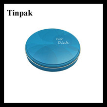 tin lip balm case/aluminum jar/metal cosmetic container