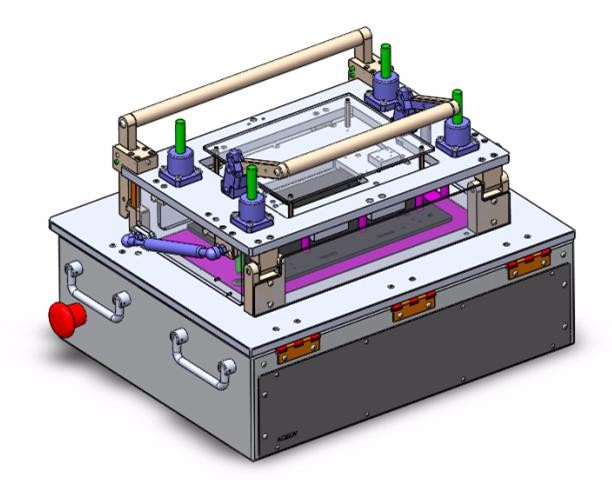 Electronics Test Jig : Manual pressing universal pcb test machine fixture