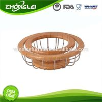 Custom Made Top Quality SEDEX Approved Wicker Baskets Bamboo Lap Tray