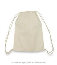 Cheap small Drawstring canvas cotton bag gifts