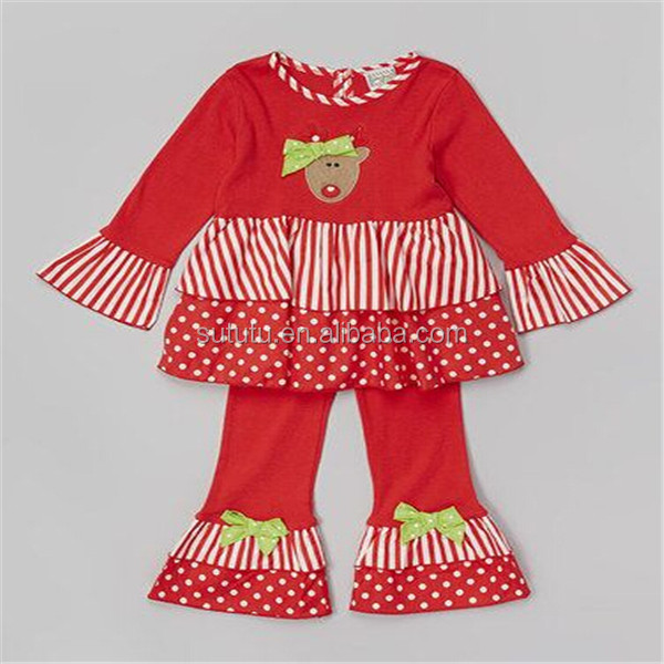 2014 Fashion Baby Girl Christmas Outfit Fancy Western
